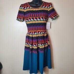 NWT LuLaRoe Printed Amelia Dress